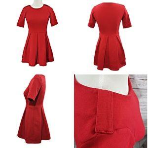 Zara Red Midi Dress Size XS EUC